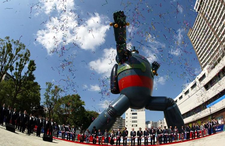 Ceremonia de inauguración del Tetsujin 28 en Kobe | Japón Tierra de Mechas