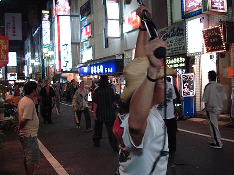 Rodaje en Tokio del director de cine Takashi Miike