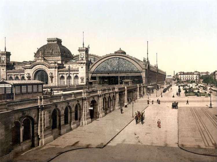 La Estación Central de Dresde, alrededor de 1900