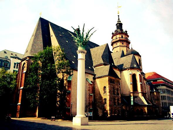 Iglesia de San Nicolas de Leipzgi. Foto (c) Turismo de Leipzig