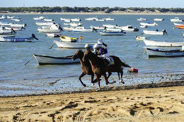 Carreras de caballos de Sanlúcar de Barrameda en Cádiz