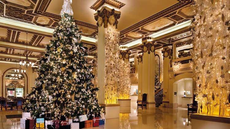 Navidad en el hotel Península de Hong Kong