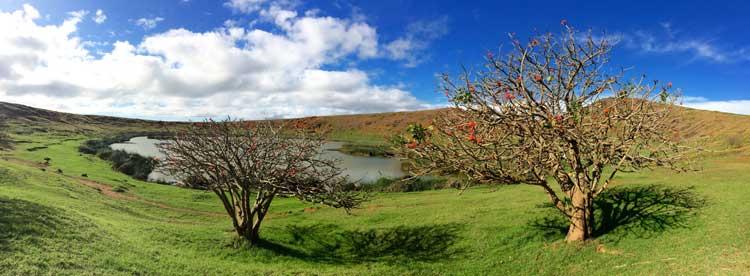 Volcán Rano Raraku. © Alfonso Bauzá de Mirabó Vidal