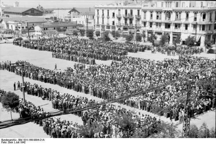 Deportación de los judíos de Salónica. Foto © Bundesarchiv