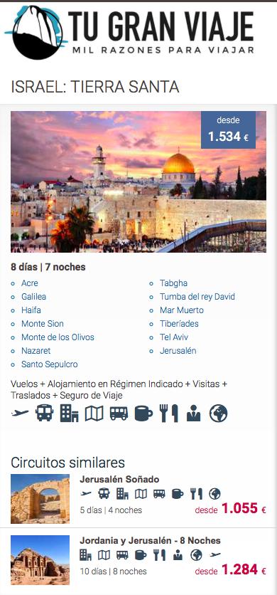 Ofertas de Viajes Baratos a Israel con Tu Gran Viaje
