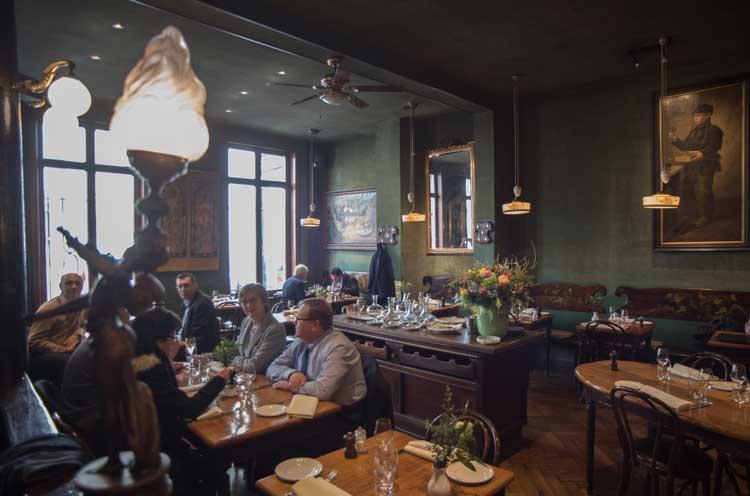Restaurante Les Brigittines, en Bruselas. © Carmelo Jordá. Flandes Exquisita en Tu Gran Viaje
