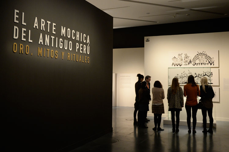 El arte mochica del antiguo Perú. Oro, mitos y rituales. Caixaforum Zaragoza
