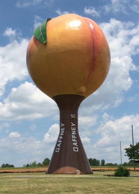 Los depositos de agua más famosos del mundo en Tu Gran Viaje. Peachoid, Gaffney, USA