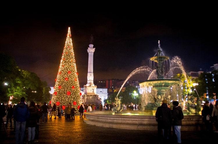 Plaza del Rossio, Lisboa. © Visit Lisboa   Tu Gran Viaje de Navidad   Revista Tu Gran Viaje