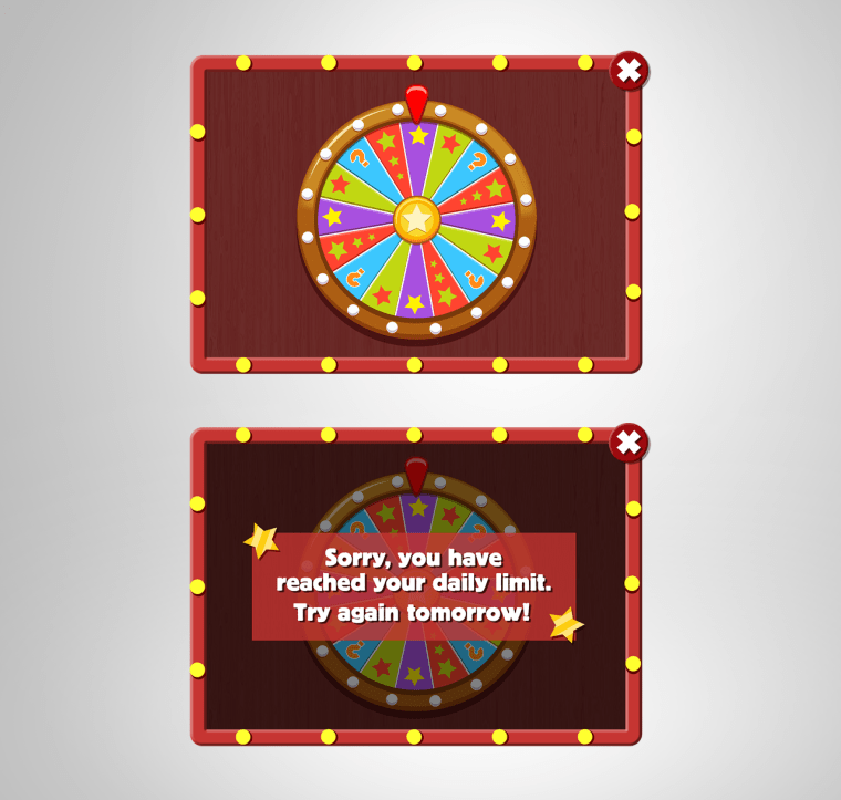 Lucky Wheel In-game Pop Up