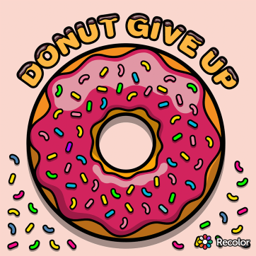 Donut Give Up | Commission