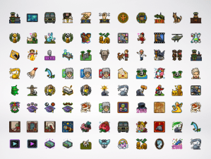 Pixel Art Design: Badges