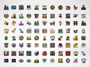 Pixel Art Design: Badges