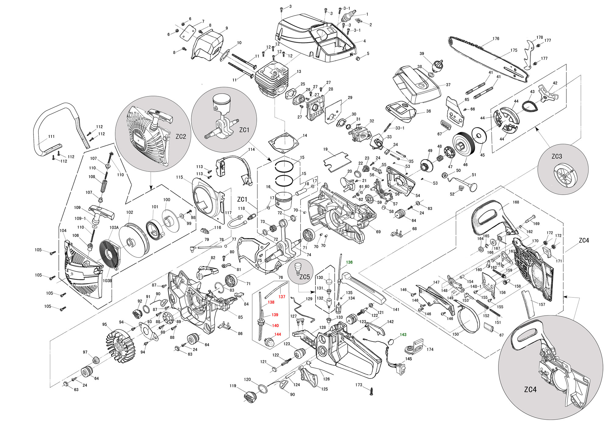 Stihl 025 Exploded Parts Diagram