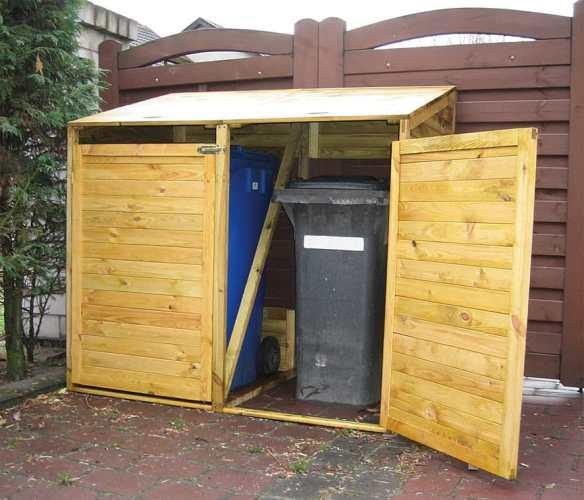 Double wheelie bin store, great for hiding unsightly bins