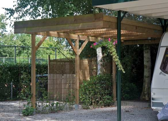 The Tuin single carport. A very popular item with quick delivery if required.