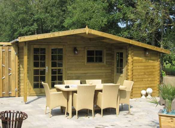Fitting a wolfgang log cabin is Easy!