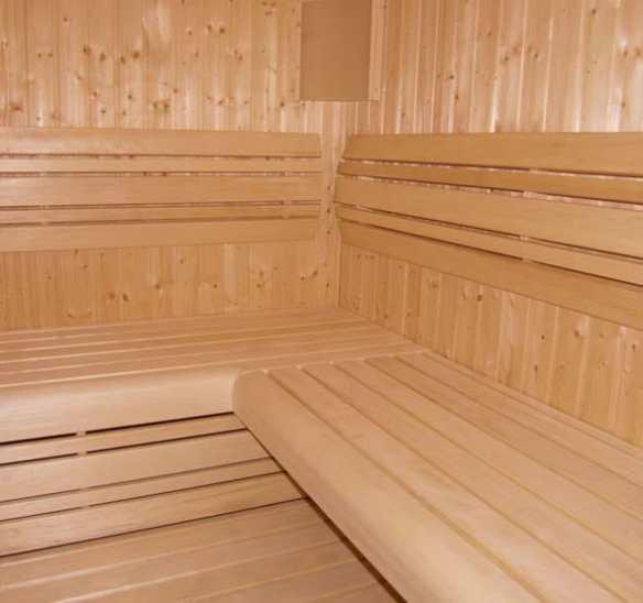 Luxury internal options for the sauna range