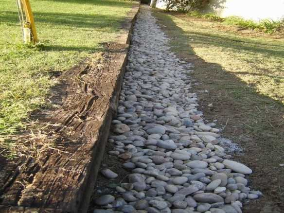French Drains are very useful around a log cabin base