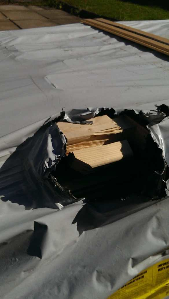 Damage caused by the delivery drivers forklift