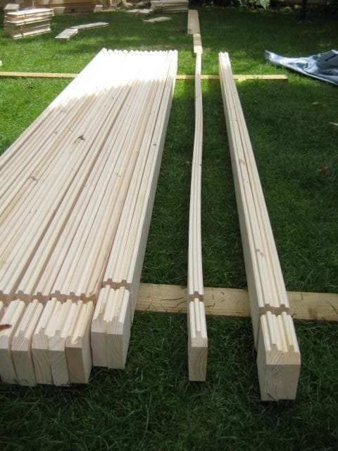 A warp example. These logs are not being stored correctly. Keep them all flat and on top of each other.