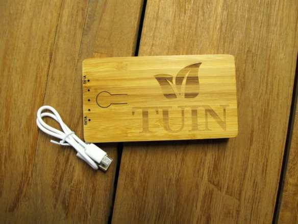 Engraved Bamboo Power Bank