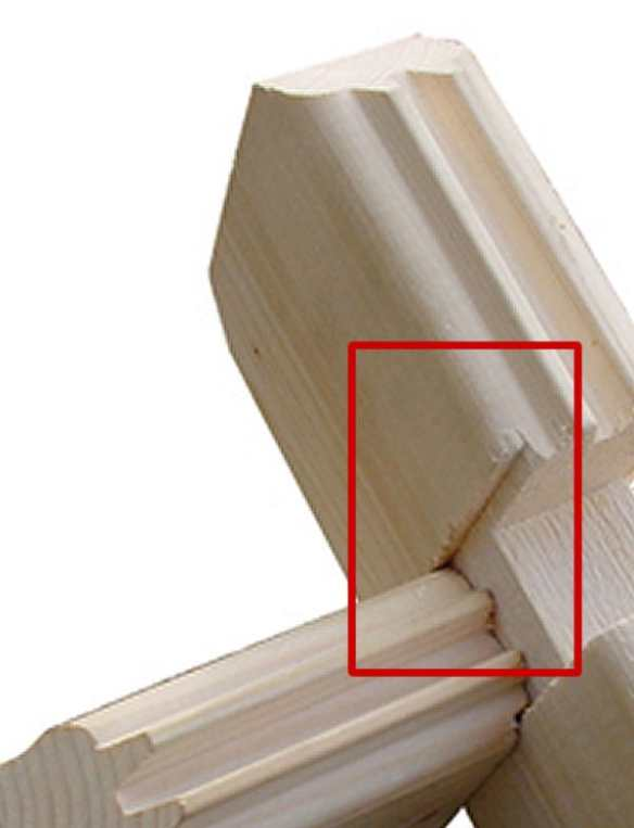 Wind and watertight connection should be present in all Good make of log cabin