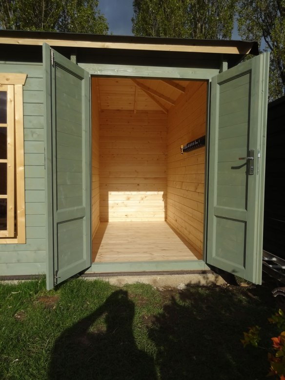 The shed area of the Agnes with the floor installed