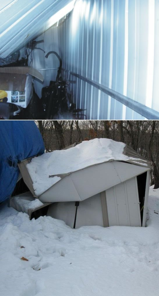 Metal shed collapse due to snow but this is something that should be considered when you are deciding on which metal shed is for you.