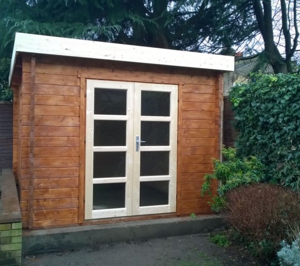The Gunnar normally has a side porch but Philip was asked to adjust it and cut it down.