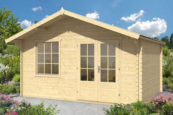 Royal Two log cabin in 45mm logs measuring 5m x 4m