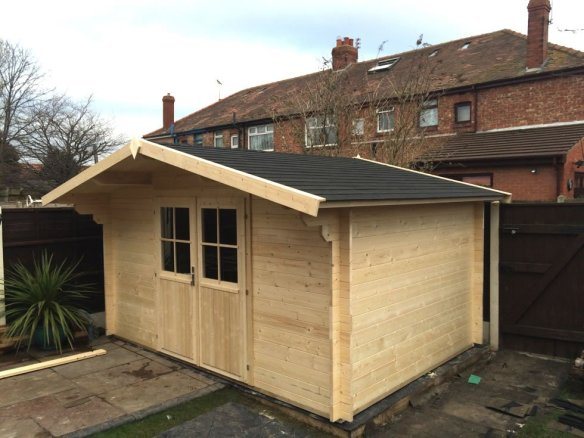A more simpler install, the Summertime 34mm log cabin.