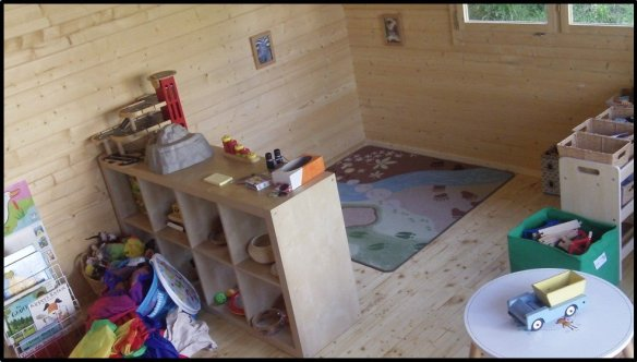 Playroom log cabin