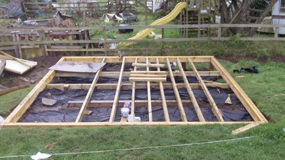 The foundations for the log cabin