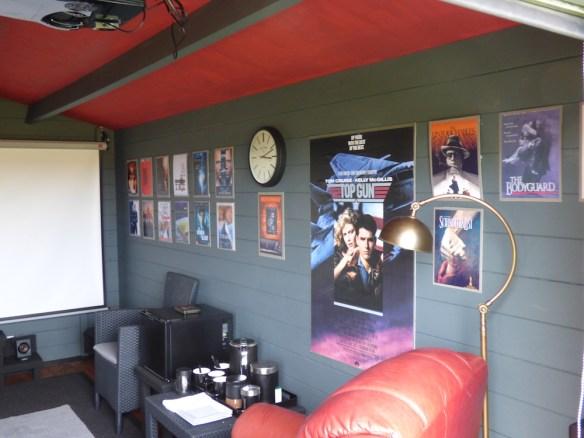Julia log cabin home cinema