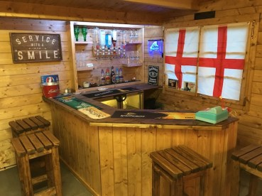 Inside The Leipzig 5m x 4m Log Cabin - The Ideal Size