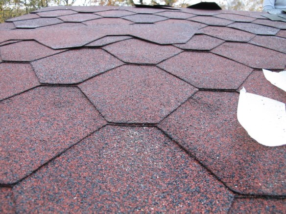 Red Hexagonal Shingles