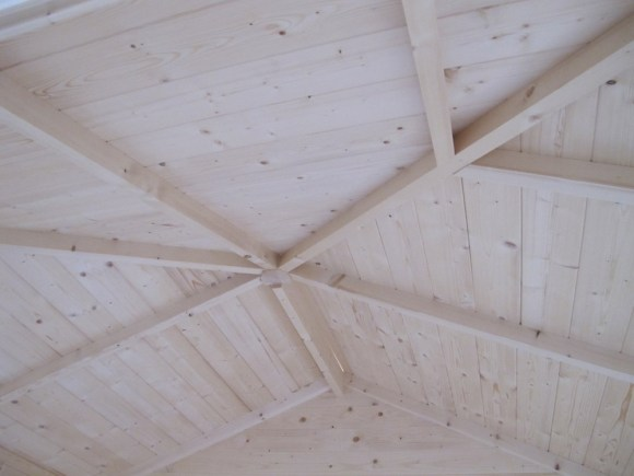 Inside View Of The Roof Boards