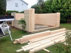 Derby Log Cabin Wall Installation