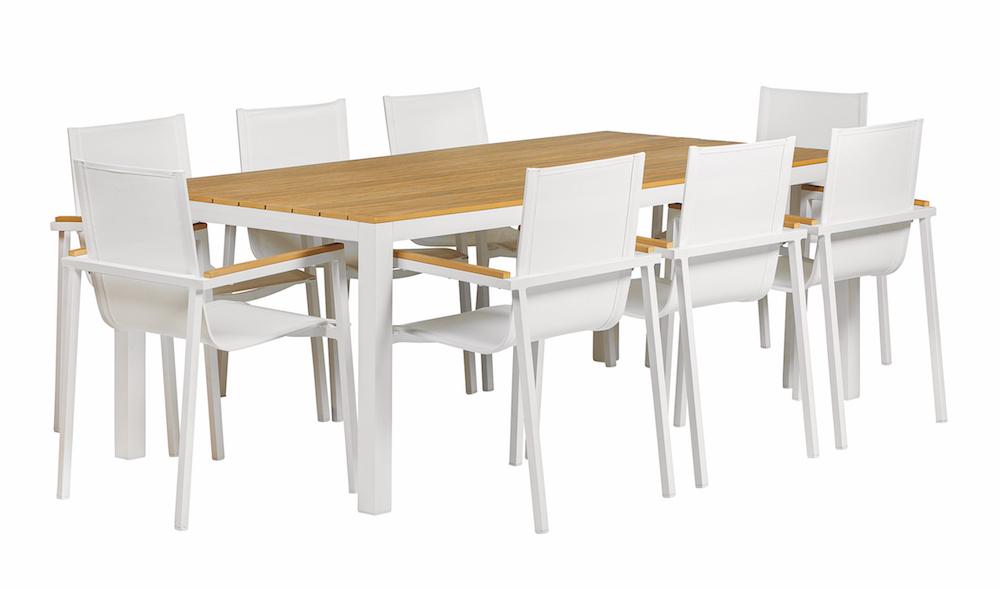Dining Set Tuin : Memphis deluxe aluminium dining set