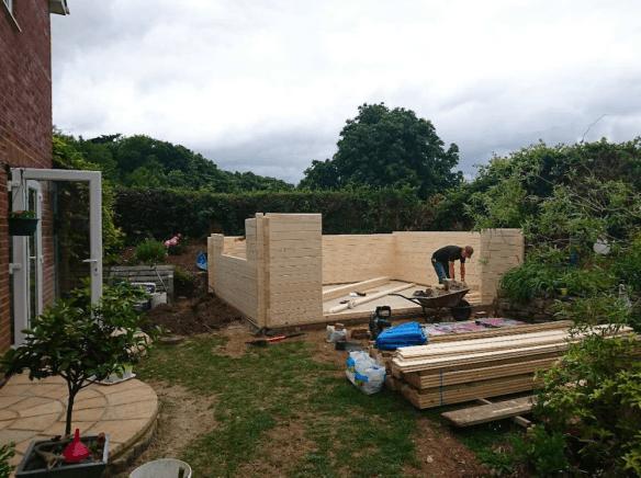 Newcastle Log Cabin Wall Installation