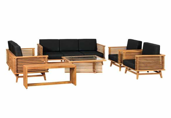Riverside Teak Garden Lounge Set