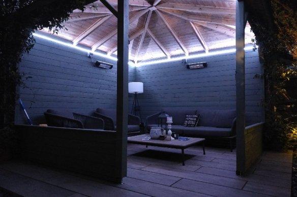 Mitch Log Cabin Gazebo Lighting