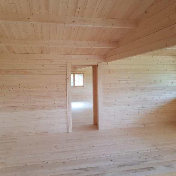 Through the Rune Log Cabin Hallway