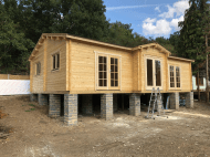 Raised Log Cabin Timber Frame Base