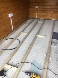 Log Cabin Floor Joists