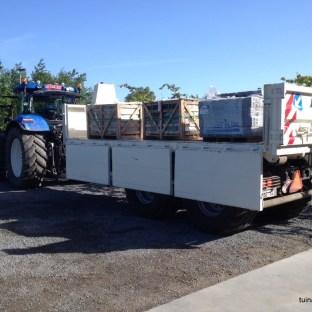 Wij zorgen zelf voor het transport van alle nodige materialen