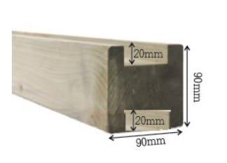 houten gleufpaal