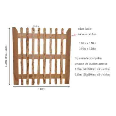 kastanje houten poort