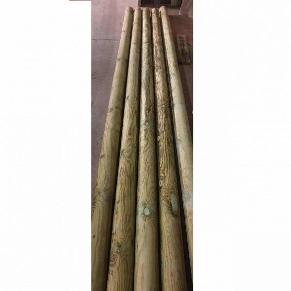 ronde palen voor leibomen